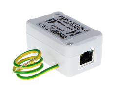 High-efficiency Ethernet surge protection for LAN, PTF-1-EXT/PoE