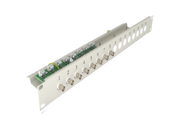 8-channels twisted pair balun, with ground loop separator, LST-8R