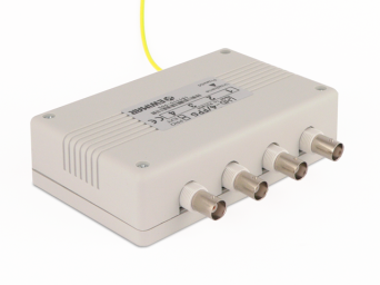 4-channel surge protection for  AHD,CVI,TVI  with UTP Video baloon and coaxial cable series EXT with power supply