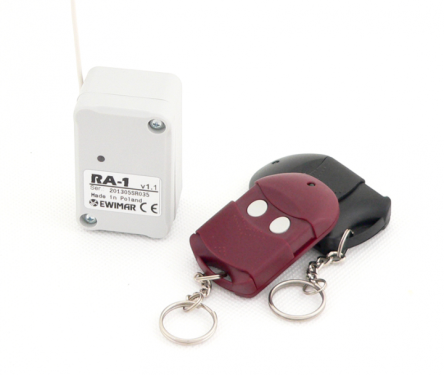 1-channel wireless controller witch keyfobs RA-1 / 250HR