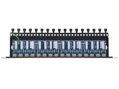 16-channel LAN patch-panel with surge protection and PoE