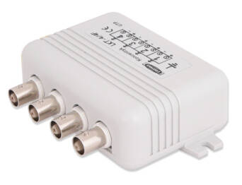 4-channel surge protector with Video Balun, LKT-4
