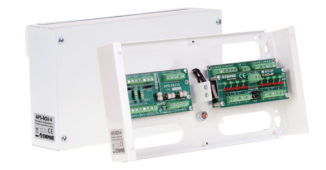 Surge protectors for burglary alarm systems